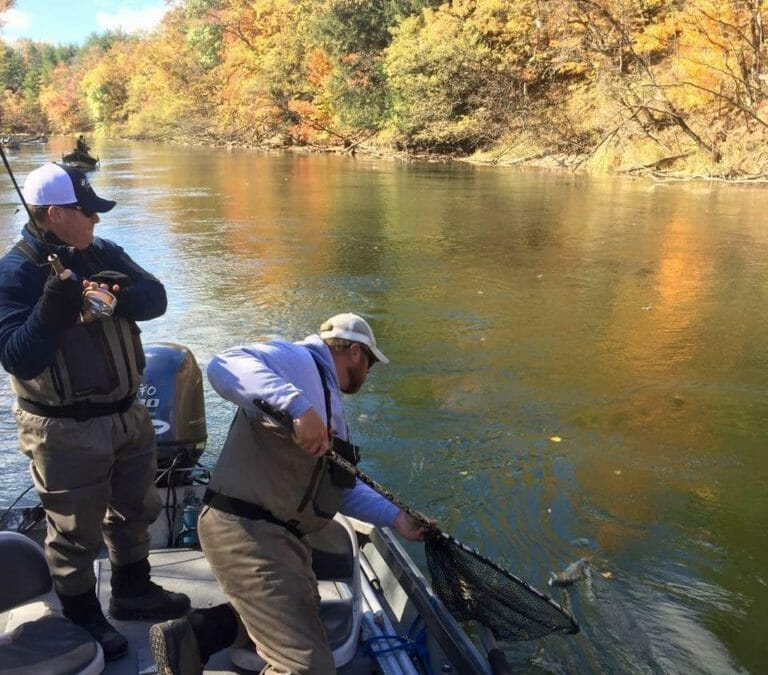 Late Autumn Fishing on the Big Manistee