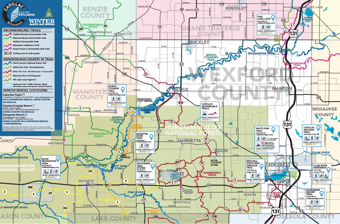 Cadillac Winter Trails Map