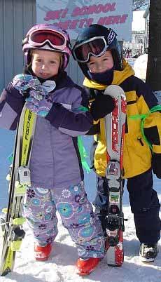 Kids skiing at Caberfae