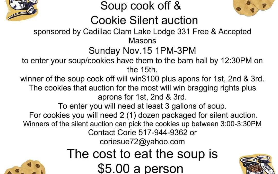 Soup Cook Off and Cookie Silent Auction