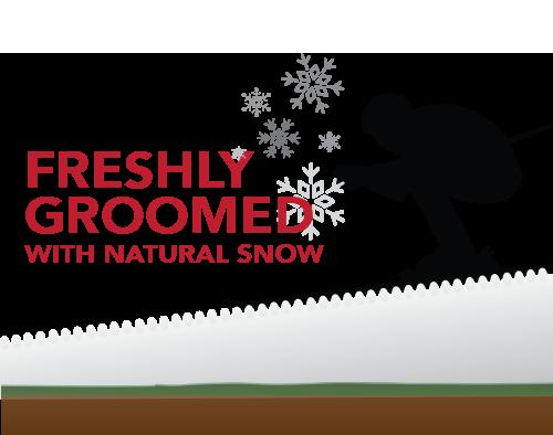 Freshly groomed natural snow