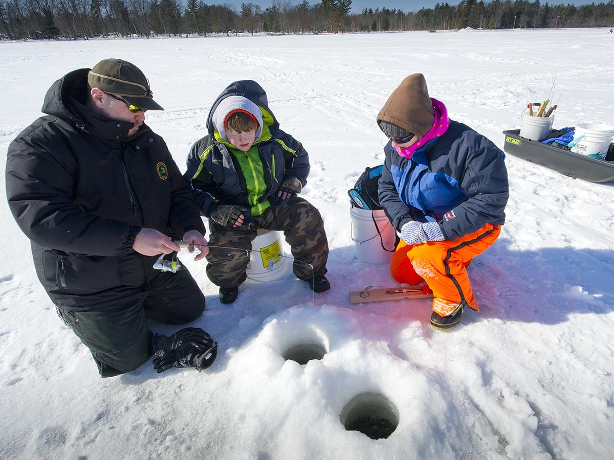 Ice fishing clinic