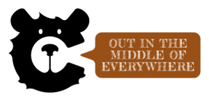 Caddy Out in the middle of everywhere logo