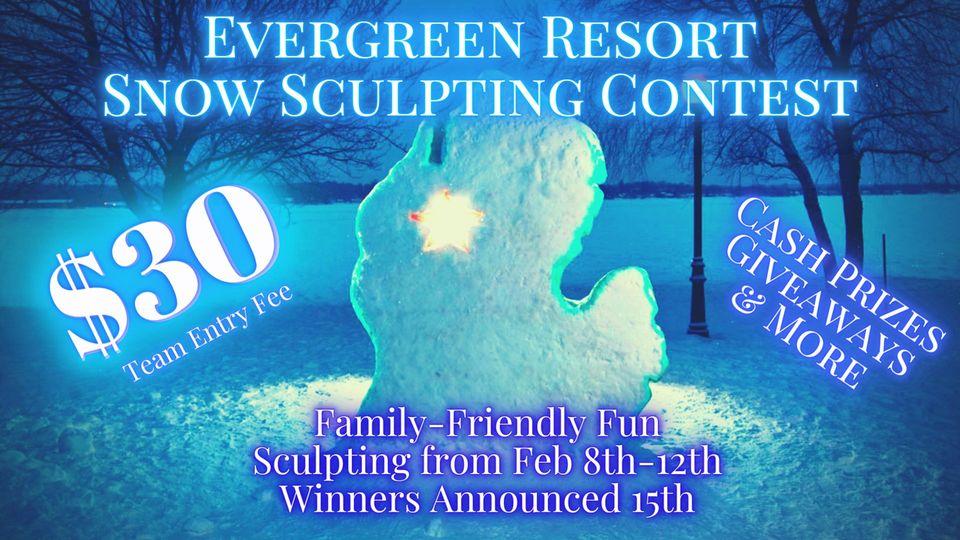 Evergreen Resort's Snow Sculpting Contest