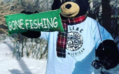 A to Z with Caddy: I is for Ice Fishing